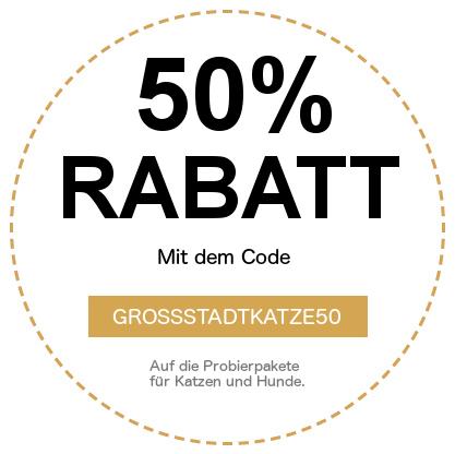 Rabattcode: GROSSSTADTKATZE50