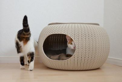 Curver Petlife Katzenhaus | Curver Pet Home Cozy Creme