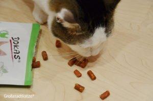 Erfahrung Dokas Snack Katze | Gute Leckerli für Katzen