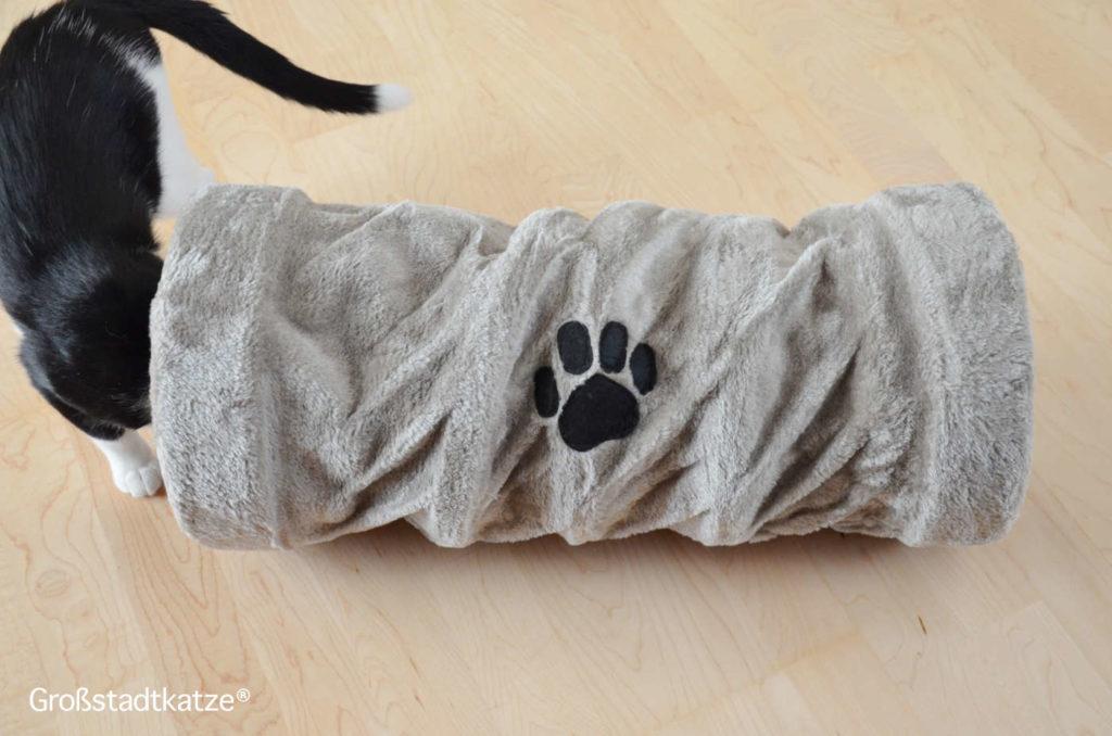 TRIXIE Spieltunnel | Rascheltunnel Katze | TRIXIE Kratzrolle