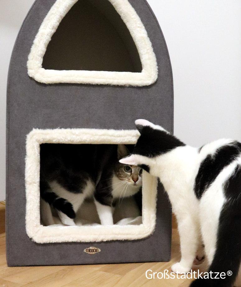 TRIXIE Cat Tower Marcy | Kratztonne Katze | Rückzugsort Katze